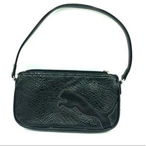 PUMA Women's Black Logo Small Handbag Purse